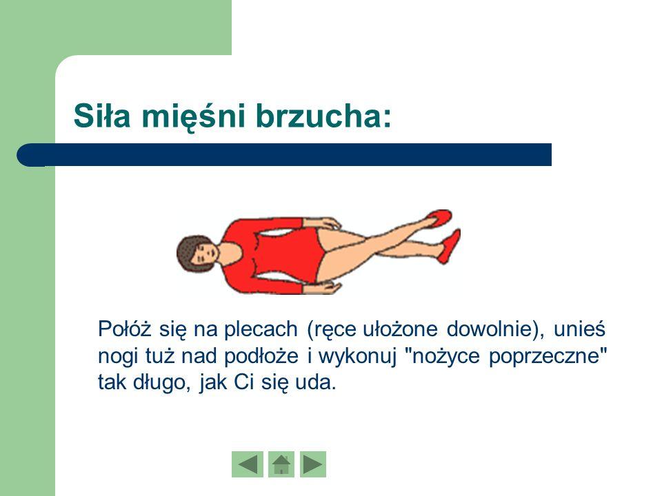 Siła mięśni brzucha: