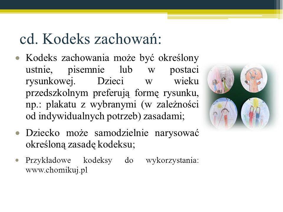 cd. Kodeks zachowań:
