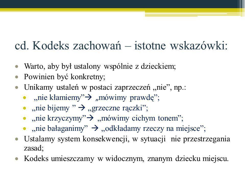 cd. Kodeks zachowań – istotne wskazówki: