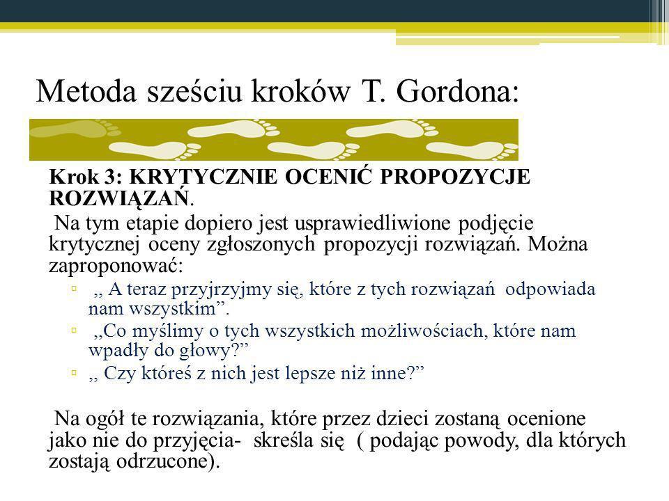 Metoda sześciu kroków T. Gordona: