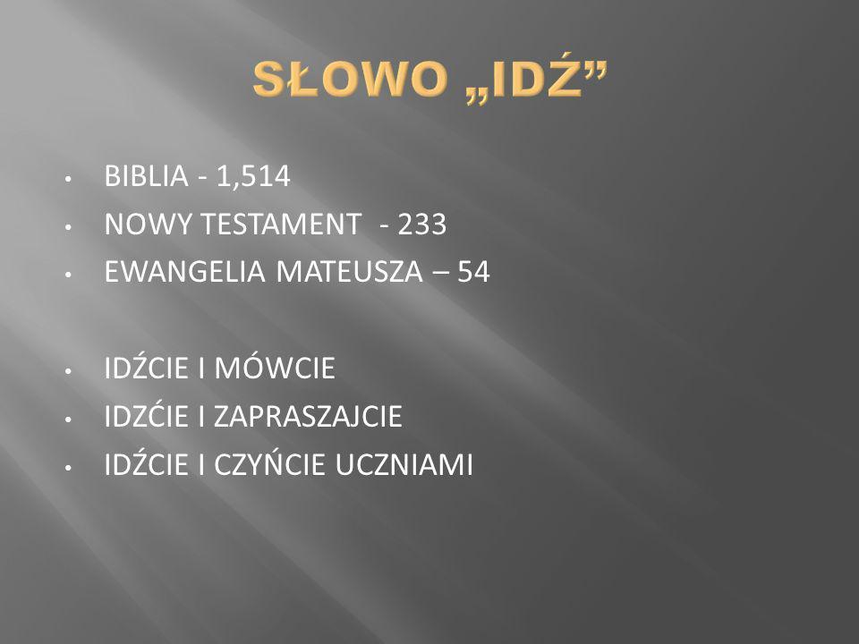 """SŁOWO """"IDŹ BIBLIA - 1,514 NOWY TESTAMENT - 233"""
