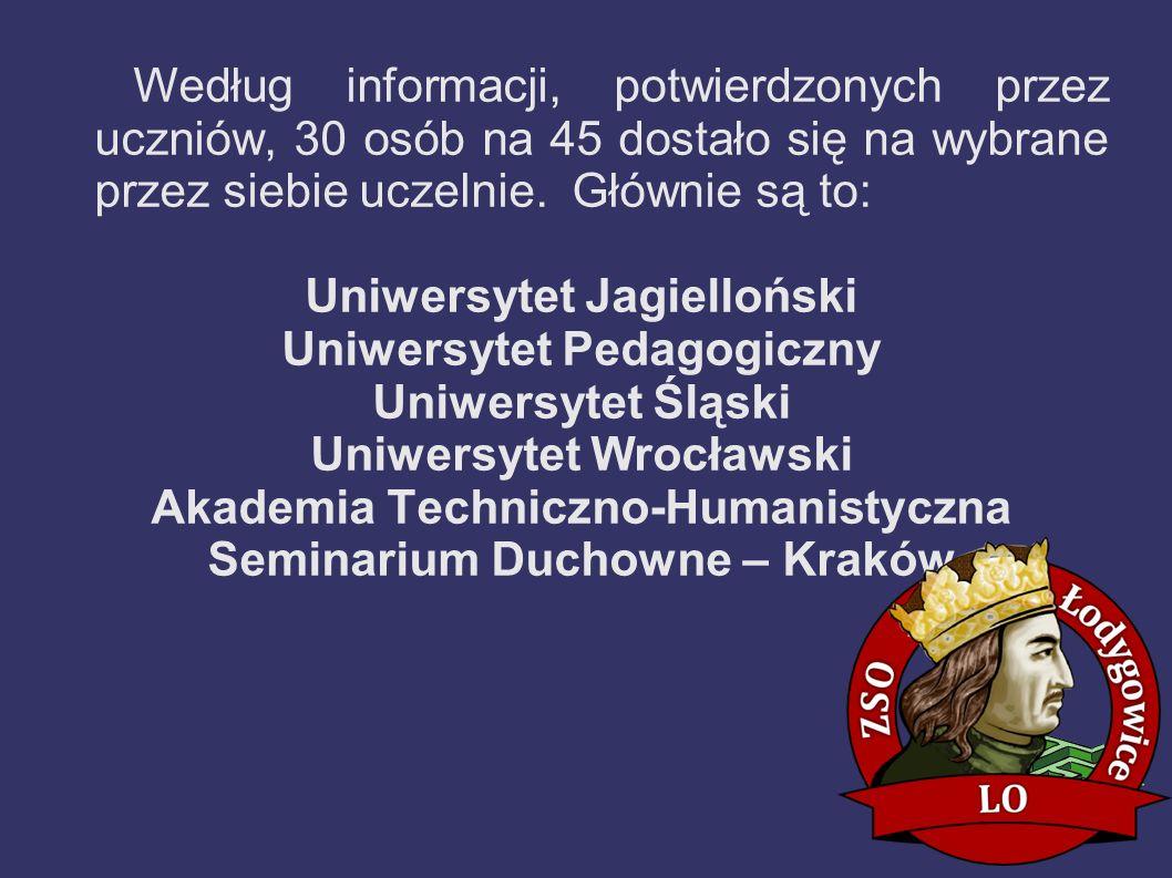 Uniwersytet Jagielloński Uniwersytet Pedagogiczny Uniwersytet Śląski