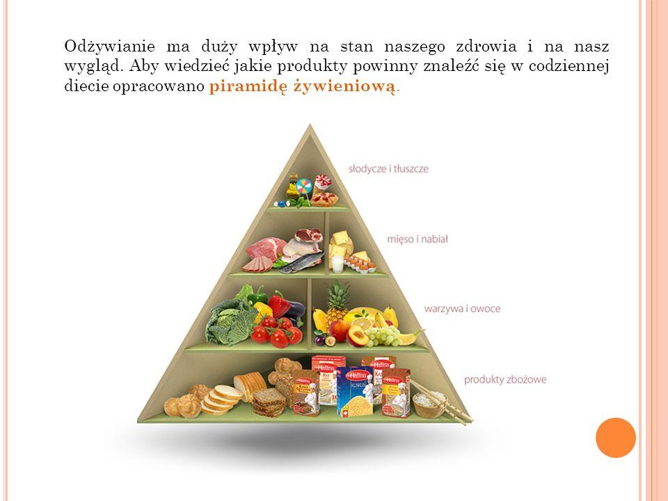 Odżywianie ma duży wpływ na stan naszego zdrowia i na nasz wygląd
