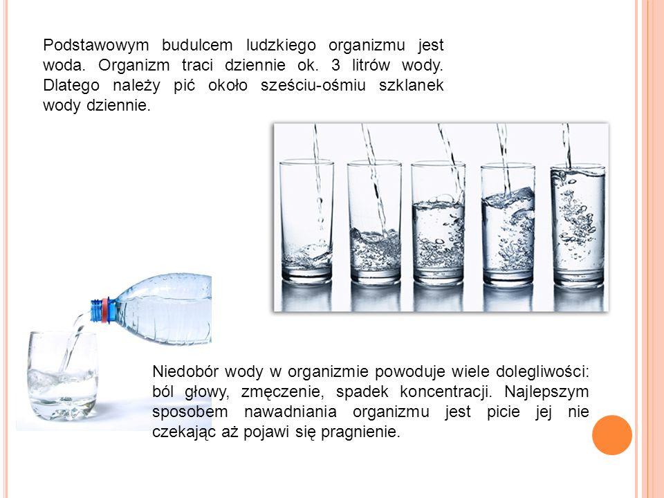 Podstawowym budulcem ludzkiego organizmu jest woda