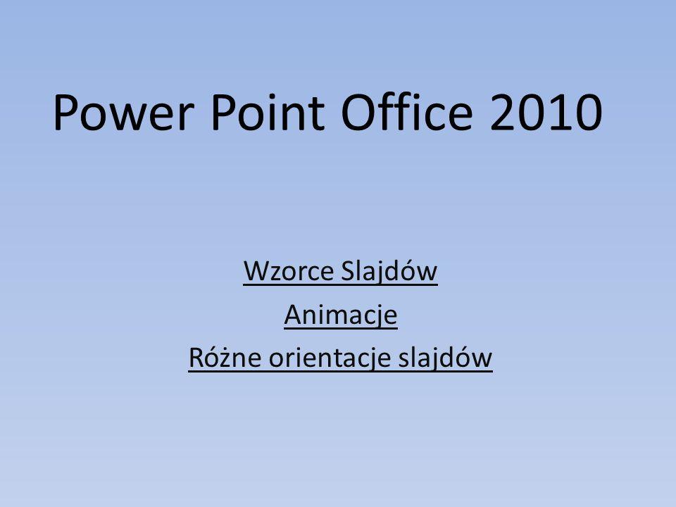 Wzorce Slajdów Animacje Różne orientacje slajdów