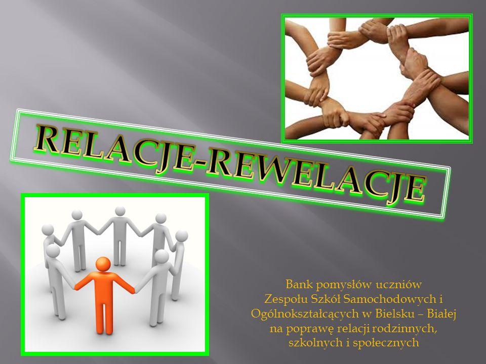 RELACJE-REWELACJE Bank pomysłów uczniów
