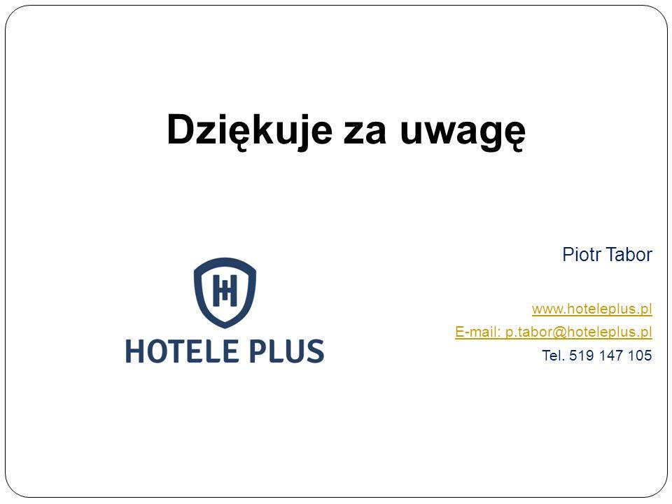 Dziękuje za uwagę Piotr Tabor www.hoteleplus.pl