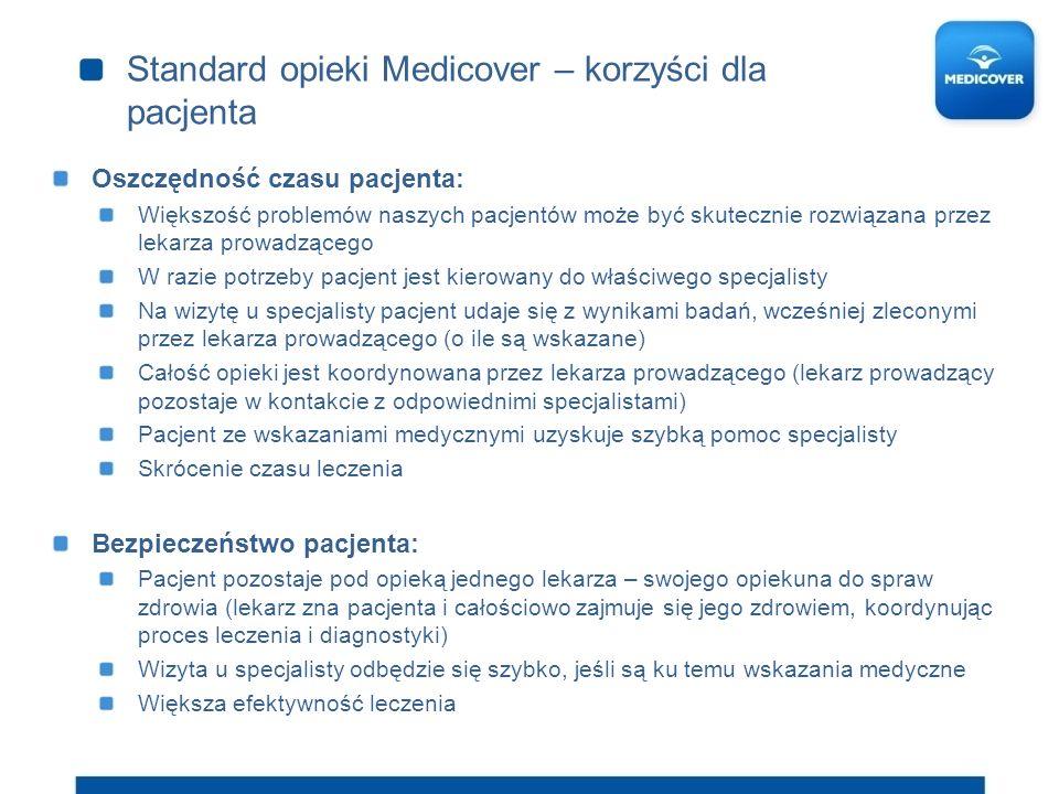 Standard opieki Medicover – korzyści dla pacjenta