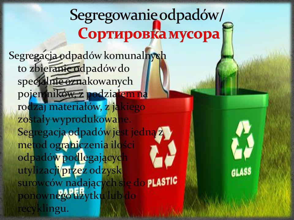 Segregowanie odpadów/ Cортировка мусора