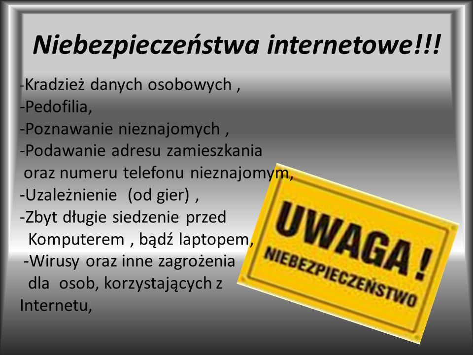 Niebezpieczeństwa internetowe!!!