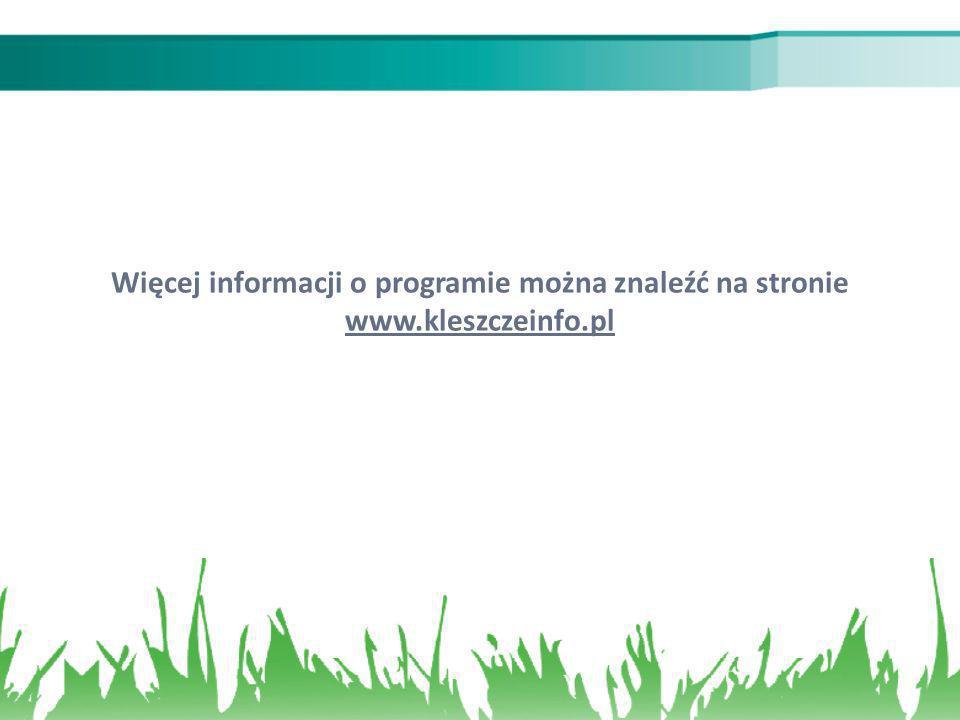 Więcej informacji o programie można znaleźć na stronie www