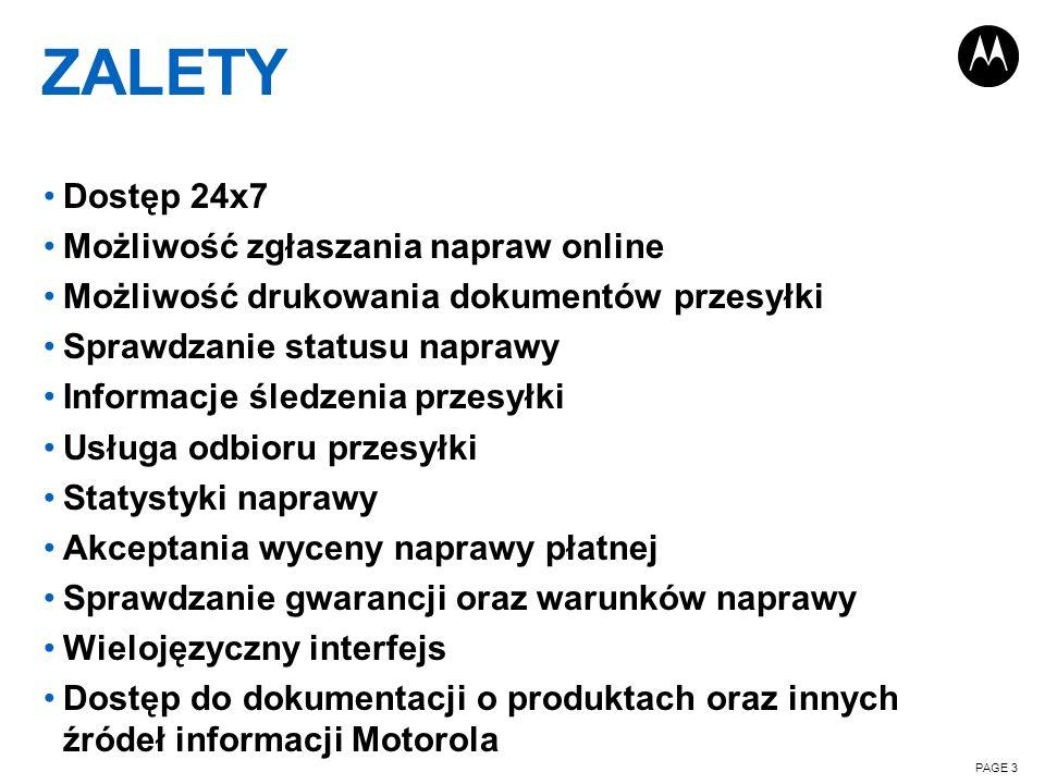 ZALETY Dostęp 24x7 Możliwość zgłaszania napraw online