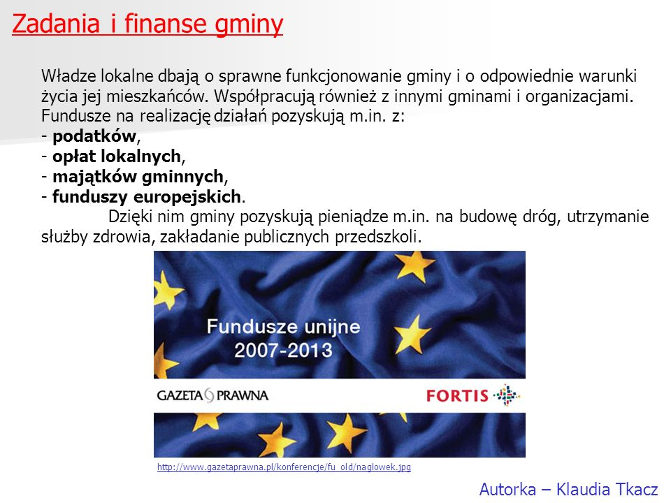 Zadania i finanse gminy