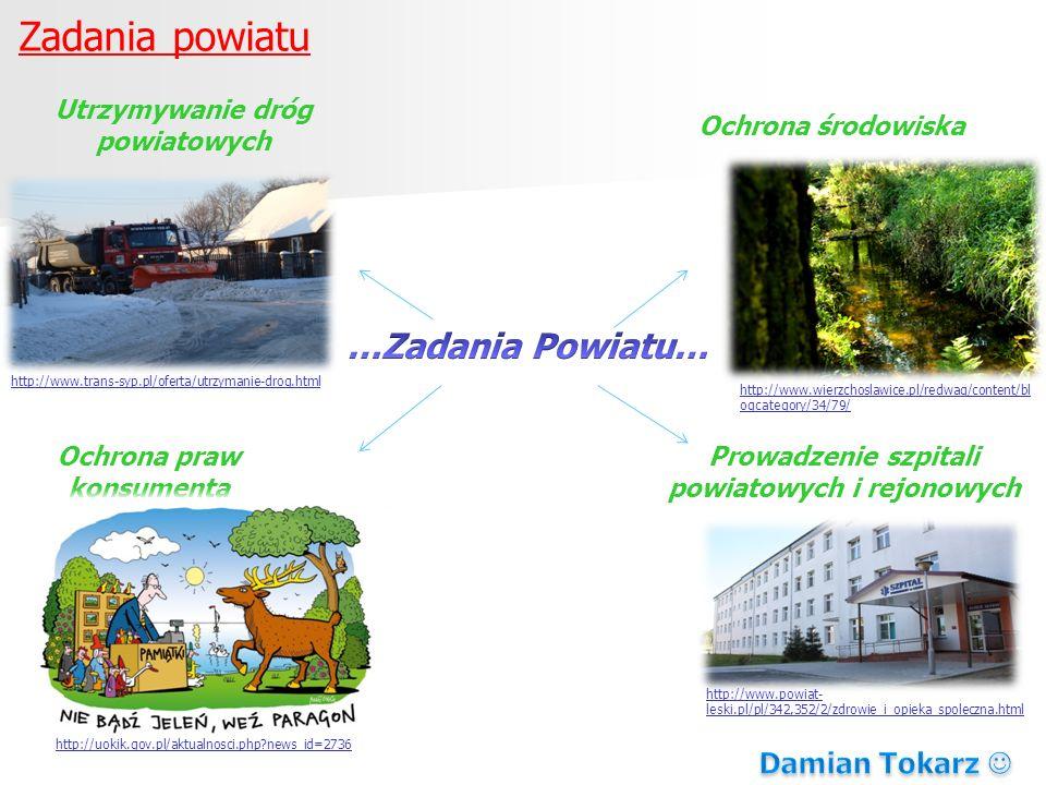 Zadania powiatu …Zadania Powiatu… Damian Tokarz 