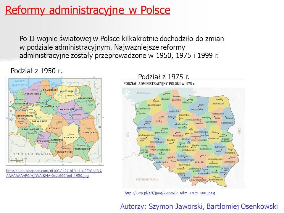 Reformy administracyjne w Polsce