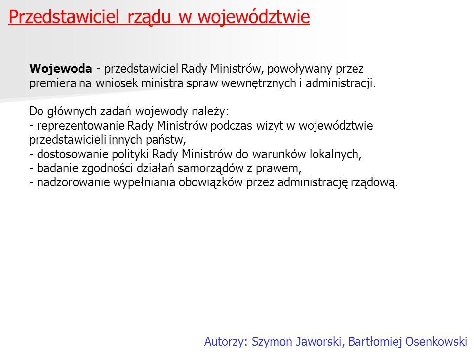 Przedstawiciel rządu w województwie