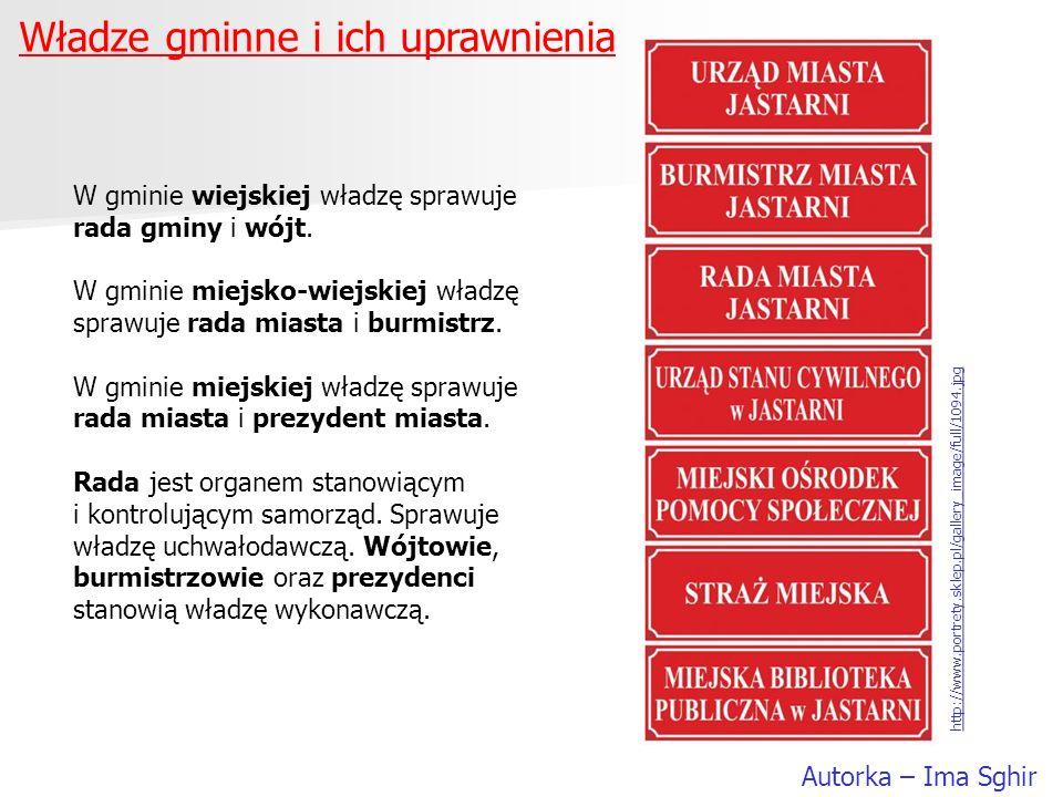 Władze gminne i ich uprawnienia