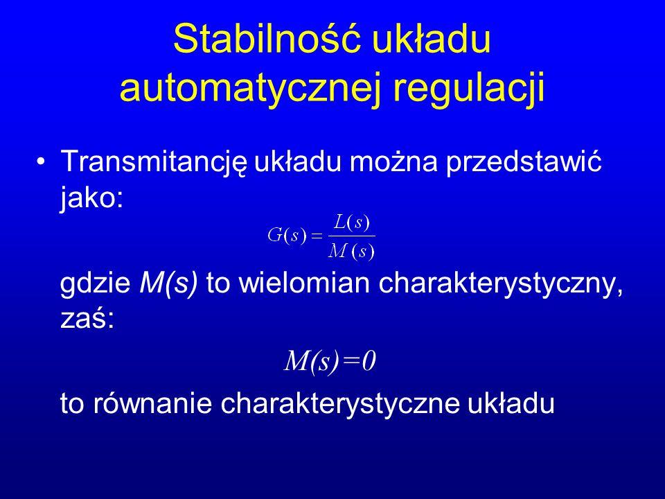 Stabilność układu automatycznej regulacji
