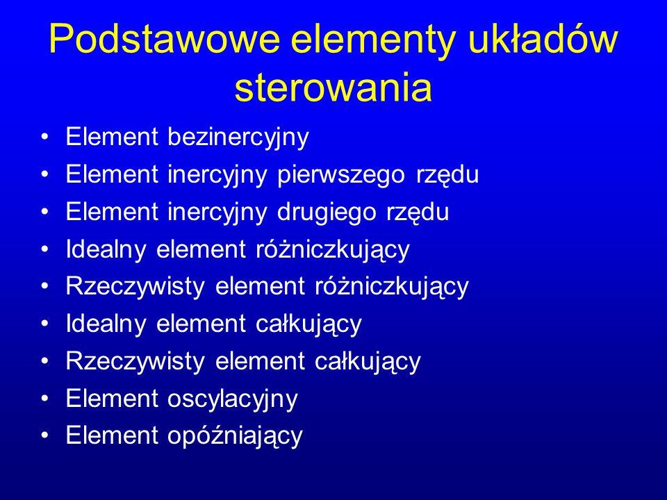 Podstawowe elementy układów sterowania