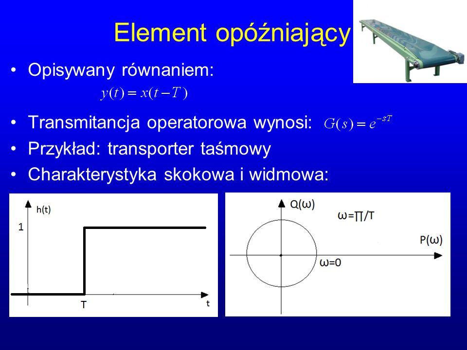 Element opóźniający Opisywany równaniem: