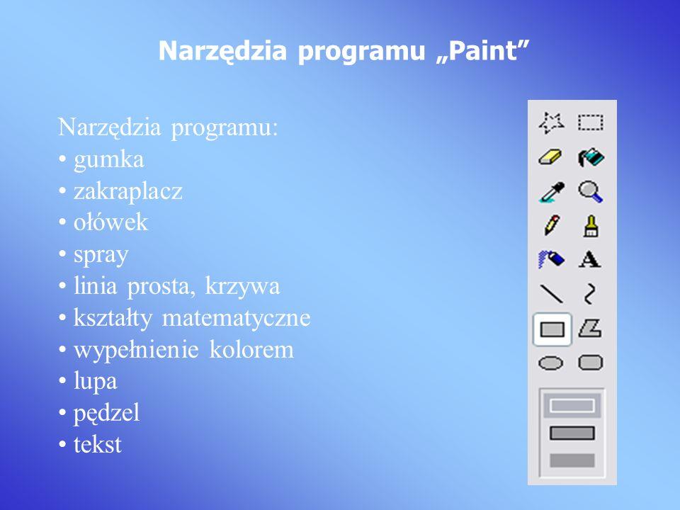 """Narzędzia programu """"Paint"""