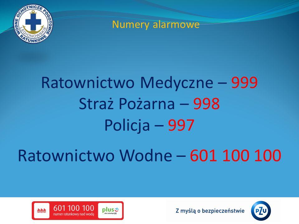 Ratownictwo Medyczne – 999 Straż Pożarna – 998 Policja – 997