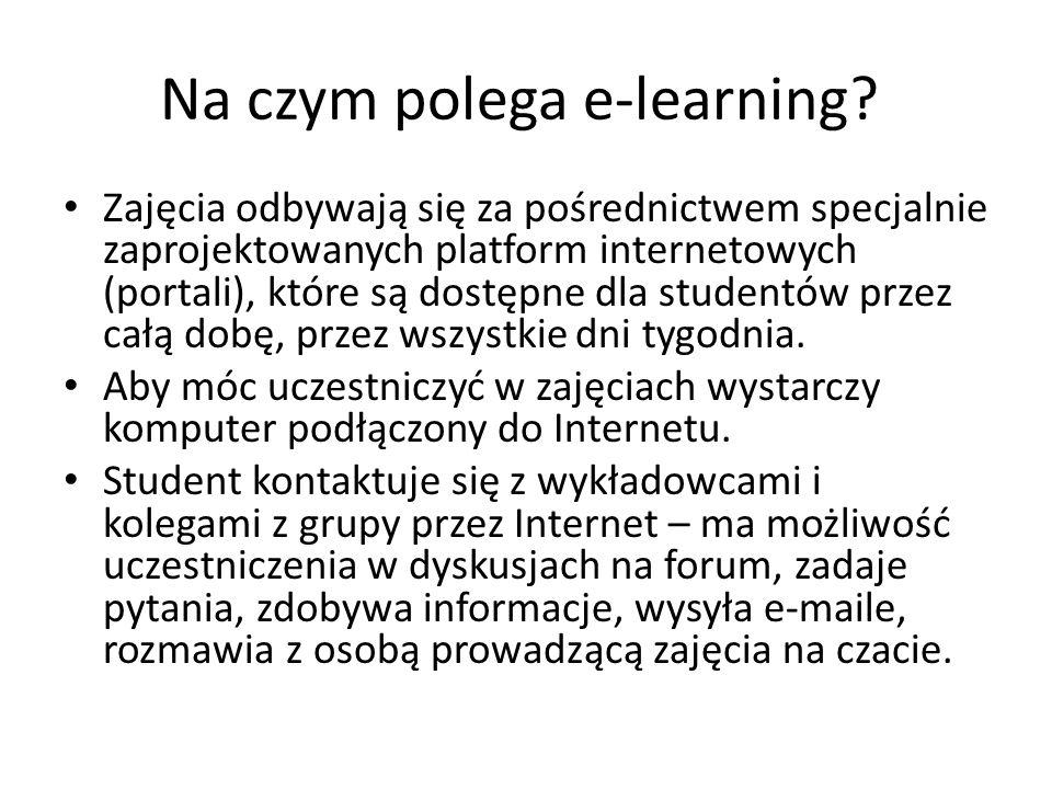 Na czym polega e-learning