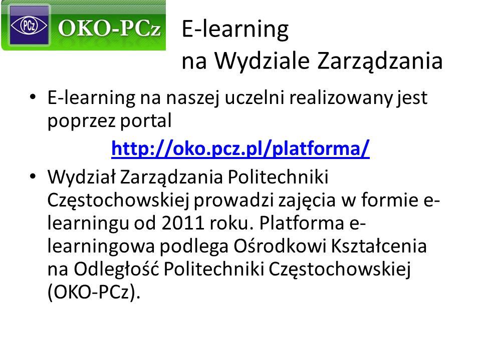 E-learning na Wydziale Zarządzania