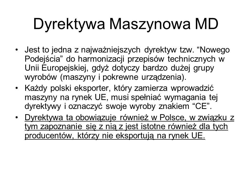 Dyrektywa Maszynowa MD