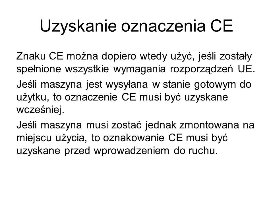 Uzyskanie oznaczenia CE