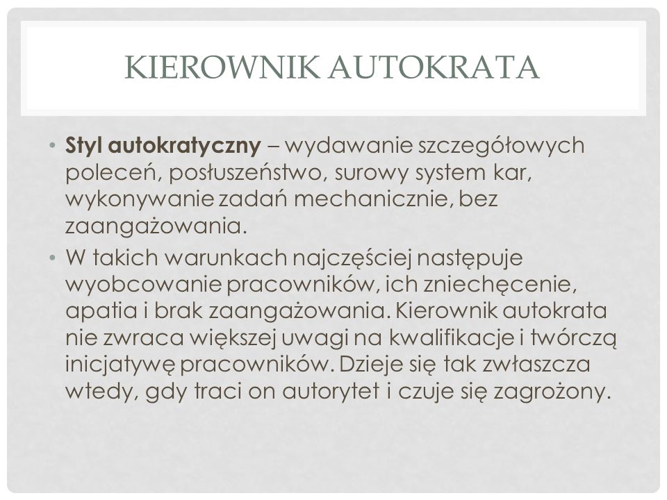 Kierownik autokrata