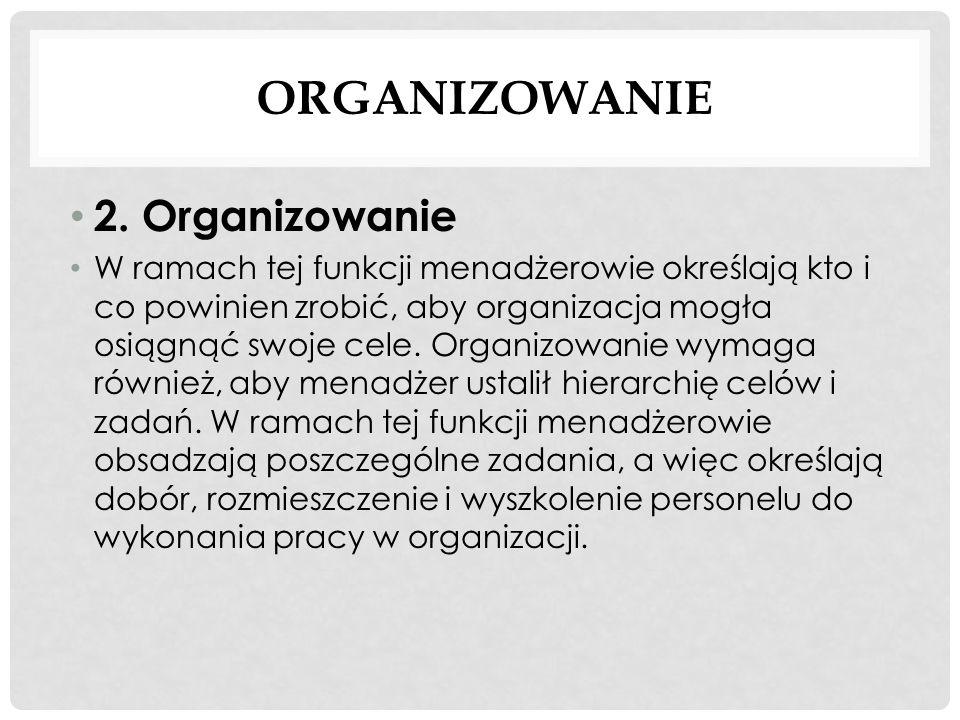 Organizowanie 2. Organizowanie