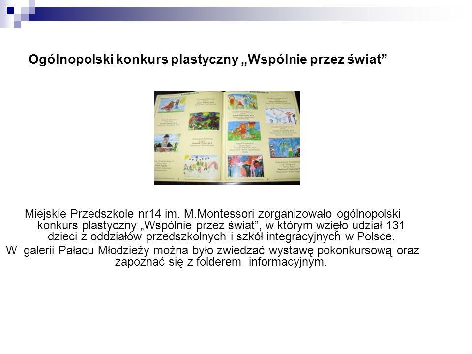 """Ogólnopolski konkurs plastyczny """"Wspólnie przez świat"""