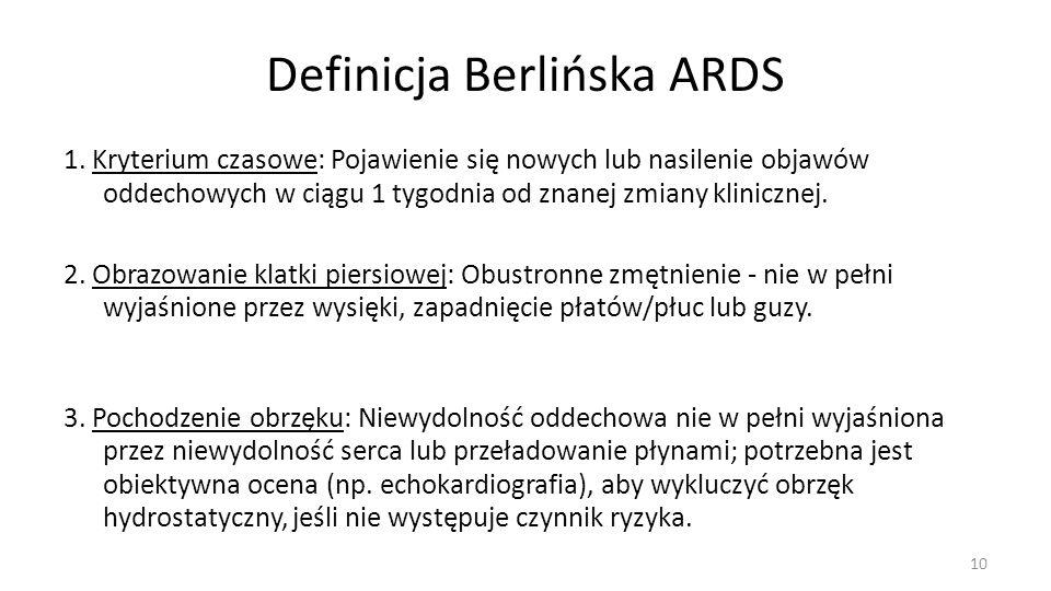 Definicja Berlińska ARDS