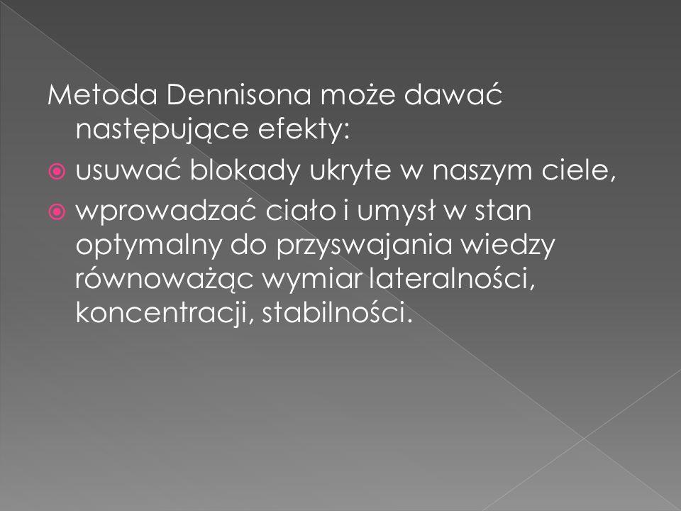 Metoda Dennisona może dawać następujące efekty: