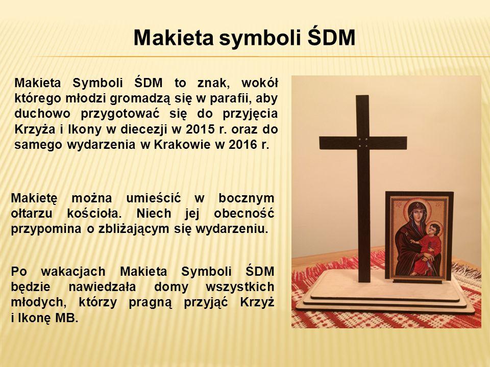 Makieta symboli ŚDM