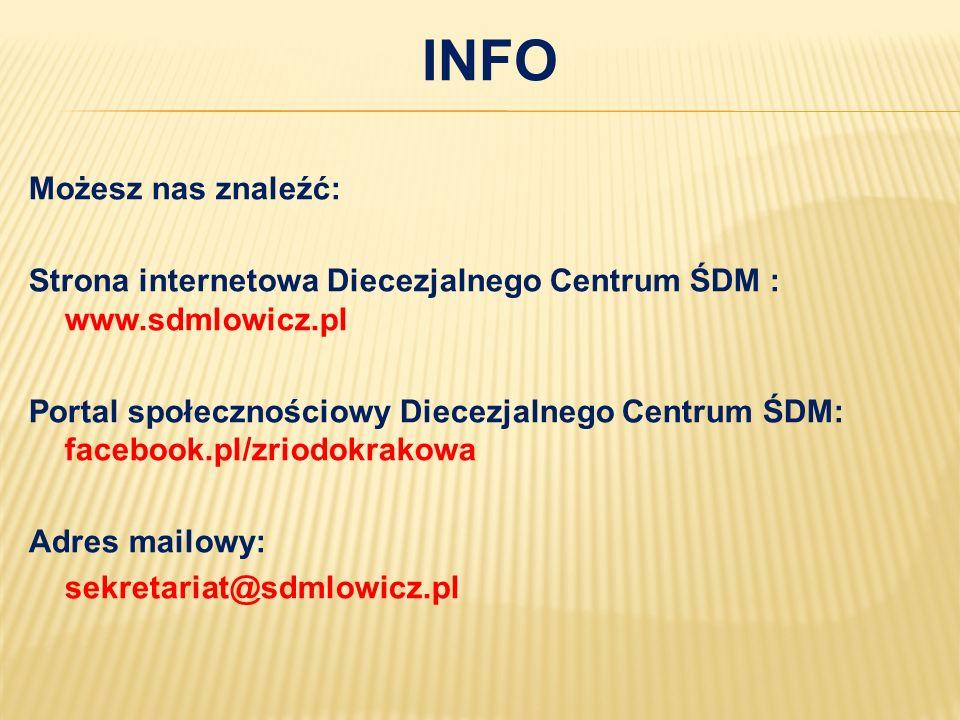Info Możesz nas znaleźć: