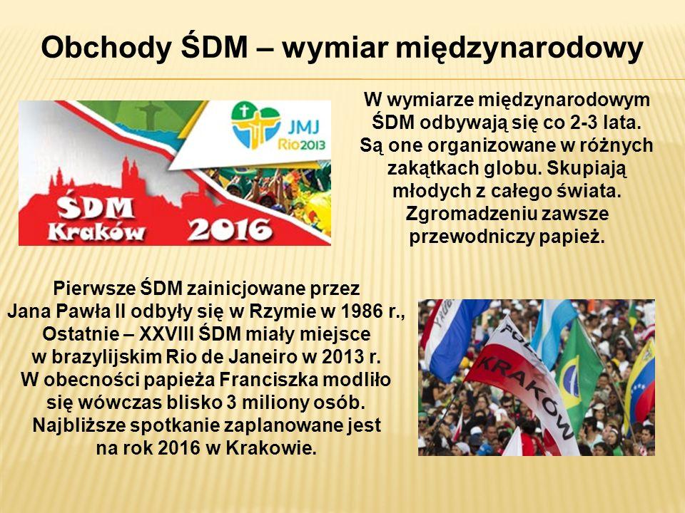 Obchody ŚDM – wymiar międzynarodowy