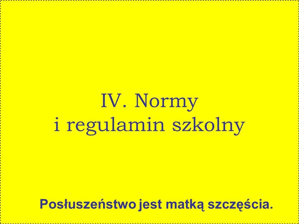 IV. Normy i regulamin szkolny