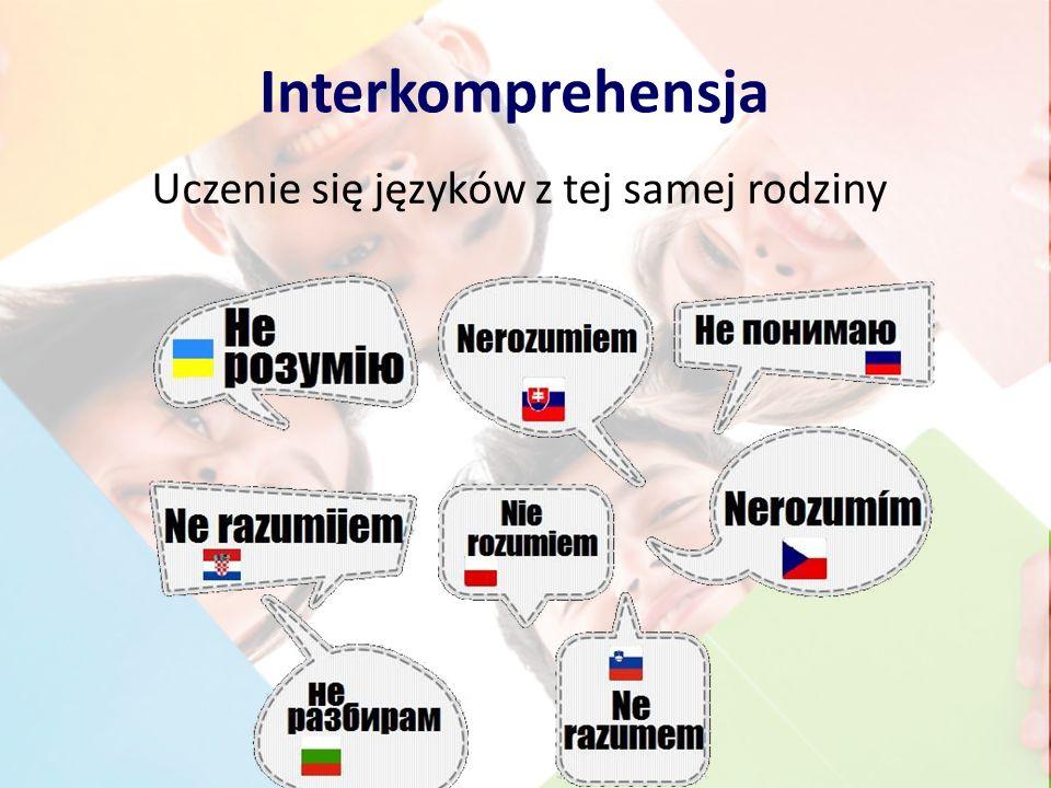 Interkomprehensja Uczenie się języków z tej samej rodziny
