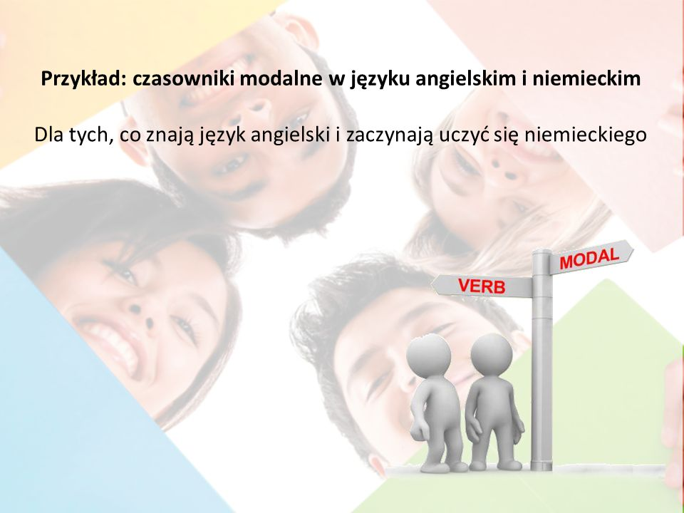Przykład: czasowniki modalne w języku angielskim i niemieckim