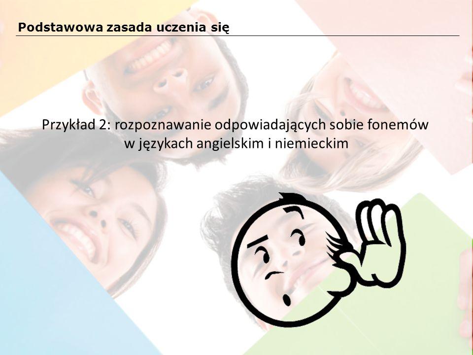 Przykład 2: rozpoznawanie odpowiadających sobie fonemów