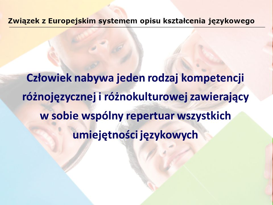 Związek z Europejskim systemem opisu kształcenia językowego
