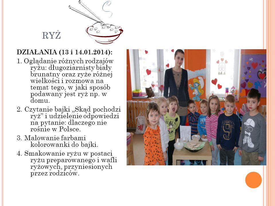 ryż DZIAŁANIA (13 i 14.01.2014):