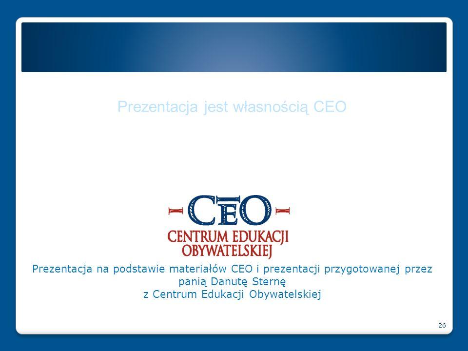 Prezentacja jest własnością CEO