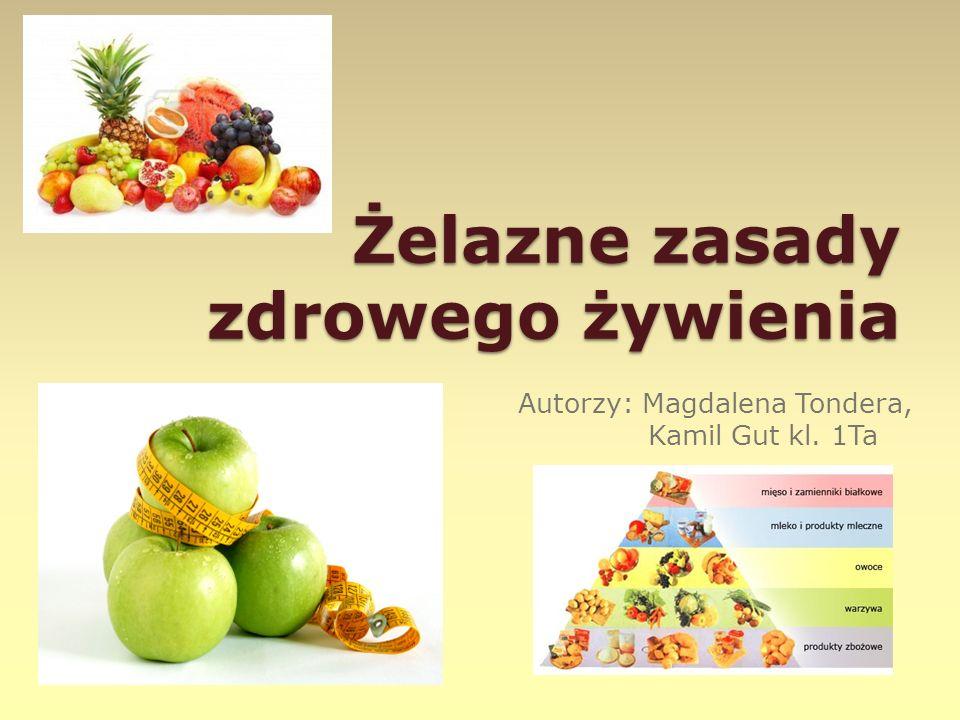 Żelazne zasady zdrowego żywienia