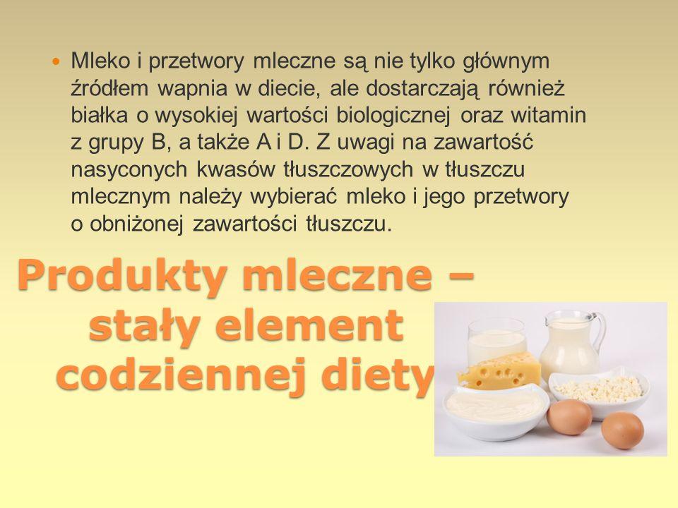Produkty mleczne – stały element codziennej diety