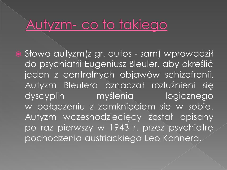 Autyzm- co to takiego