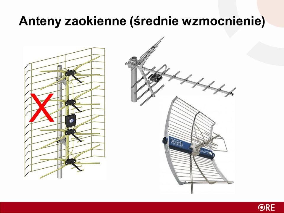 Anteny zaokienne (średnie wzmocnienie)