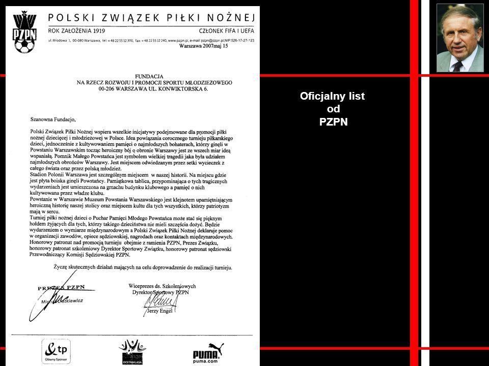 Oficjalny list od PZPN